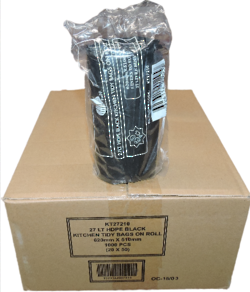 27L BLACK BIN LINER ROLL 1000 PC - KT27210