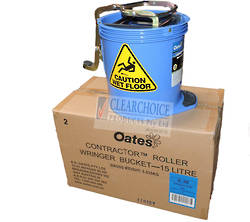 BUCKET MOP CONTRACTOR 15LT BLU