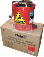 BUCKET MOP CONTRACTOR 15LT RED