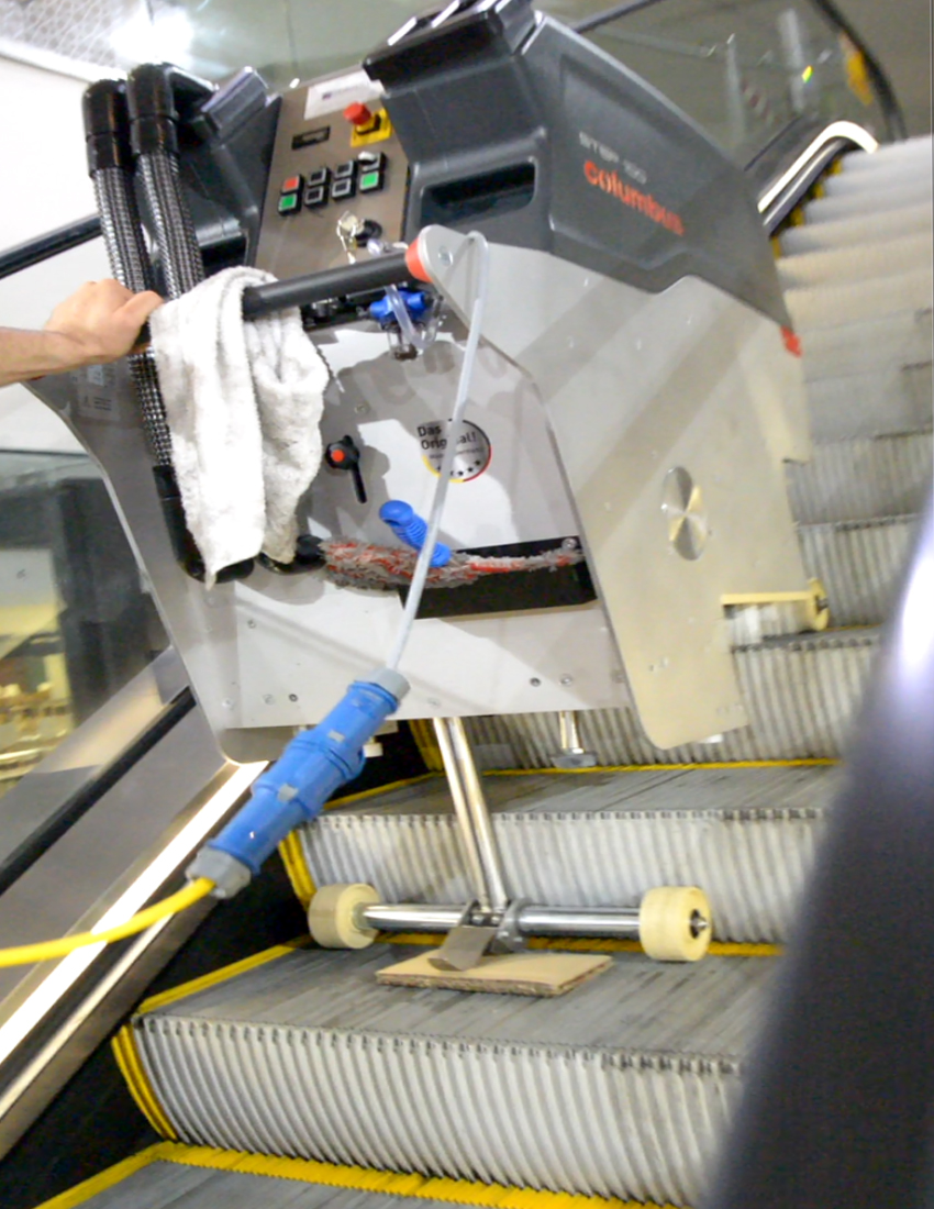 Step100 Escalator Cleaner Clearchoice Products Operating